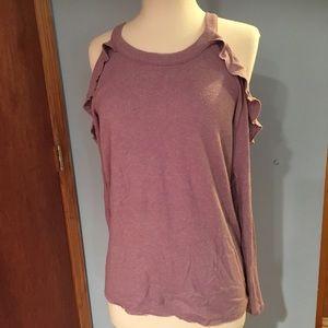 American Eagle Cold Shoulder Sweater Sz L Purple